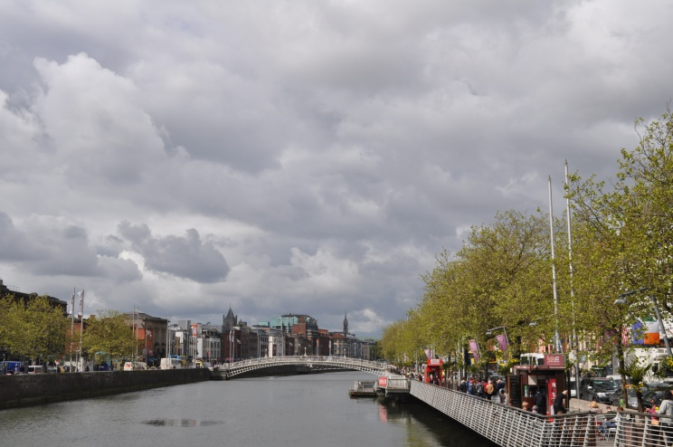 stroll along the river Liffey